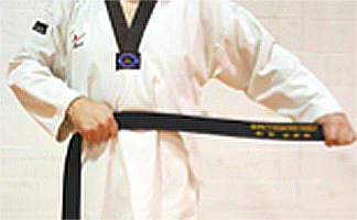How to tie your Taekwondo belt step 1