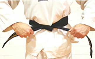 How to tie your Taekwondo belt Step 5